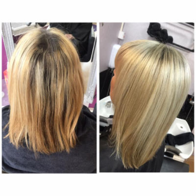 Hair Extensions before and after image